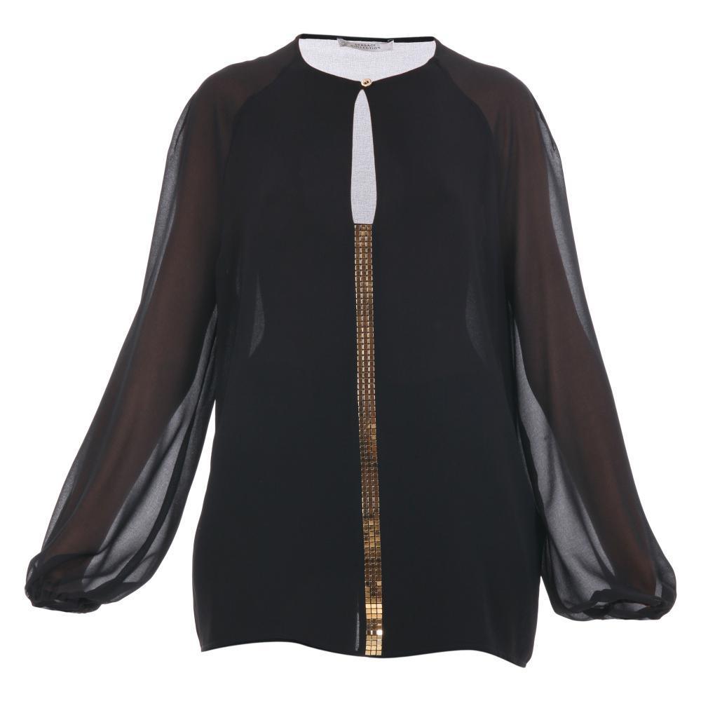 Versace Con Blusa Applicazione Donna g34534 Cod Collection Dorata qZOzfWOdH