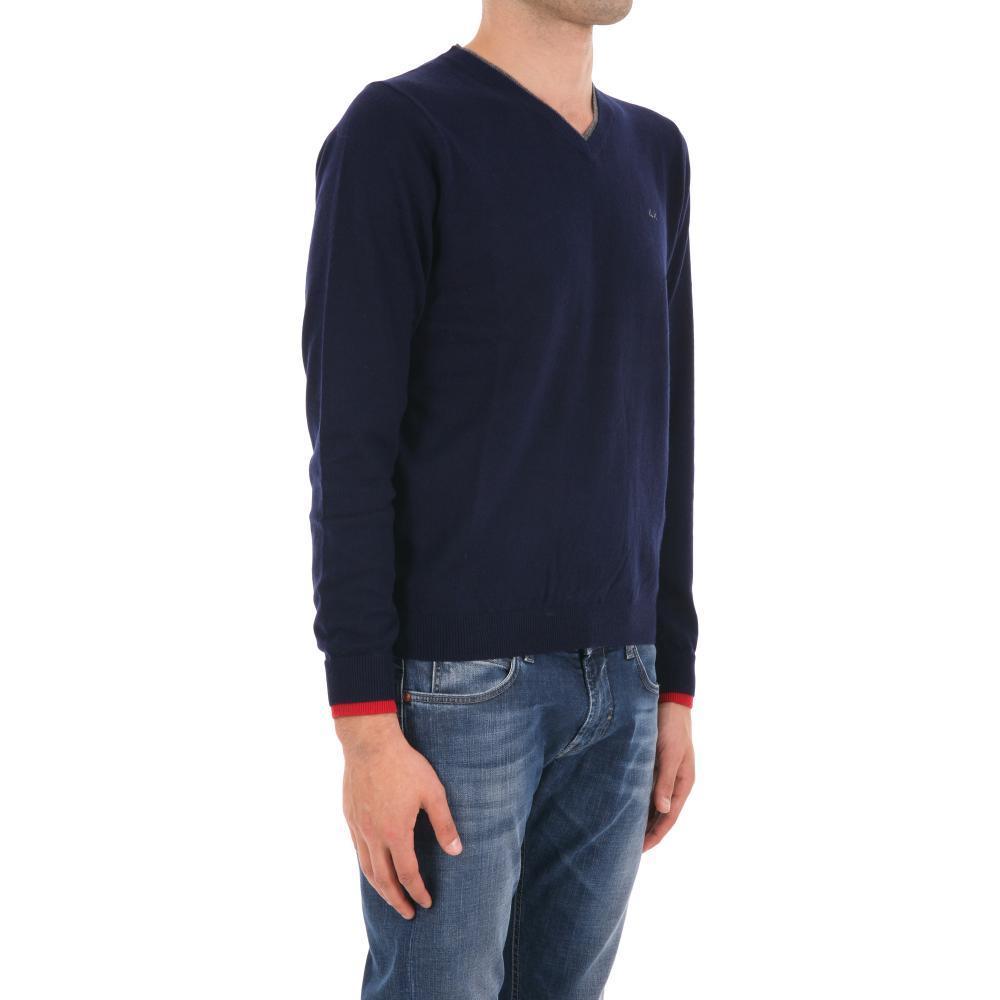 maglia-scollo-a-v-in-cotone-cashmere-uomo-sun68-cod-26145